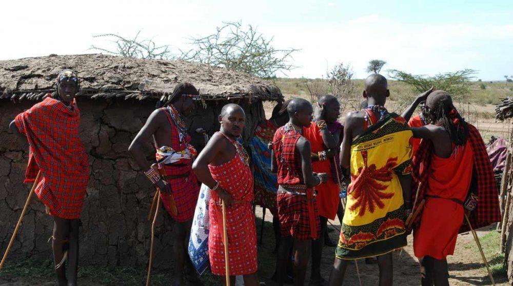 Des habitants dans le Masai Mara