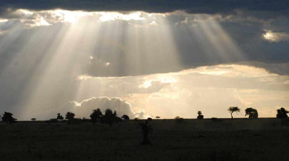Une vue du Masai Mara depuis le Richards Camp au Kenya