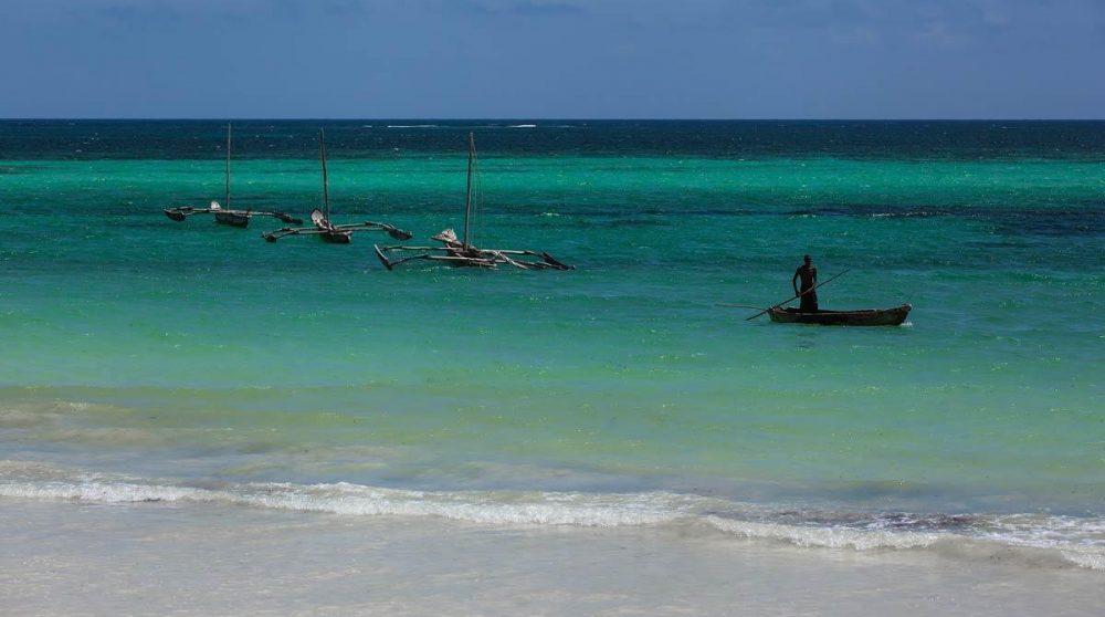 Mombasa et l'eau turquoise