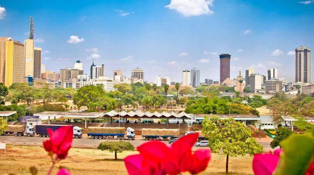 Une étape dans la ville de Nairobi