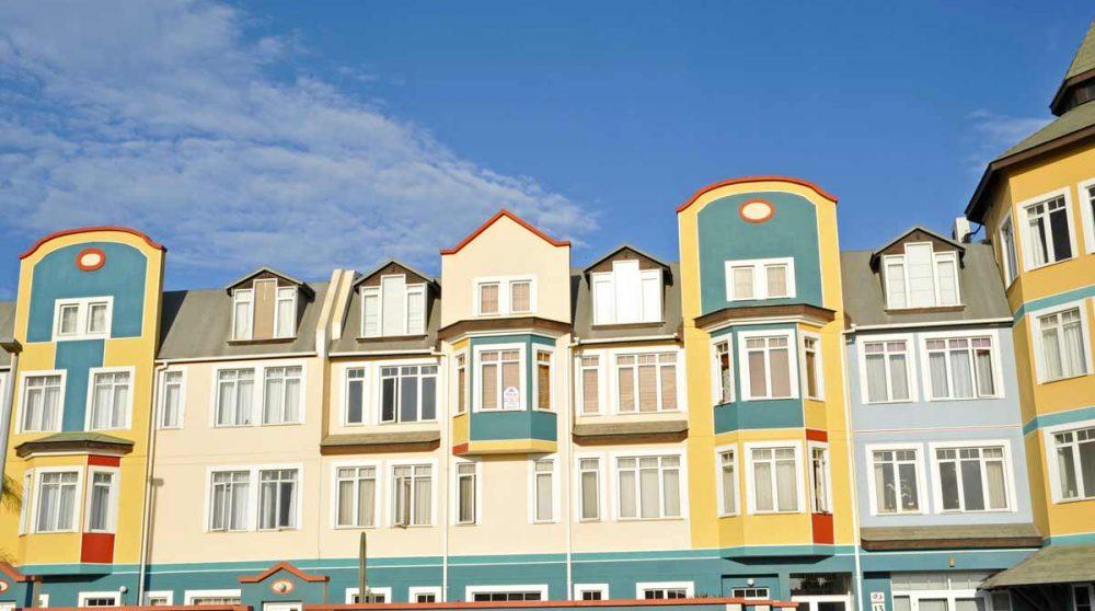 Les maisons colorées de Swakopmund