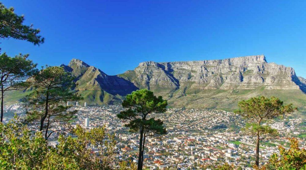 La Table Mountain au Cap