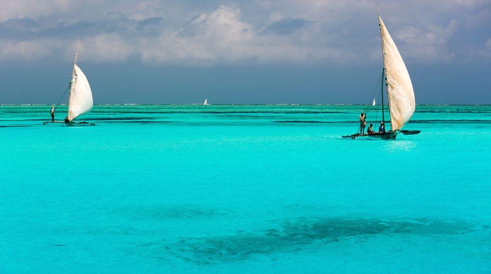 Les eaux turquoise à Zanzibar