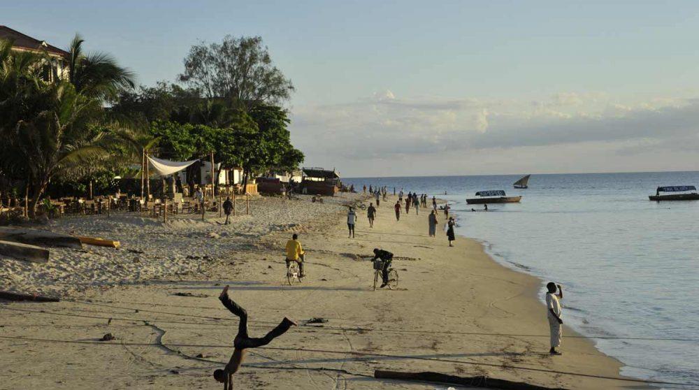 La plage à Zanzibar