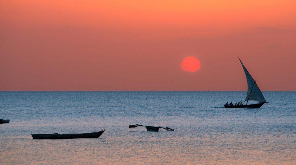 Le coucher de soleil à Zanzibar