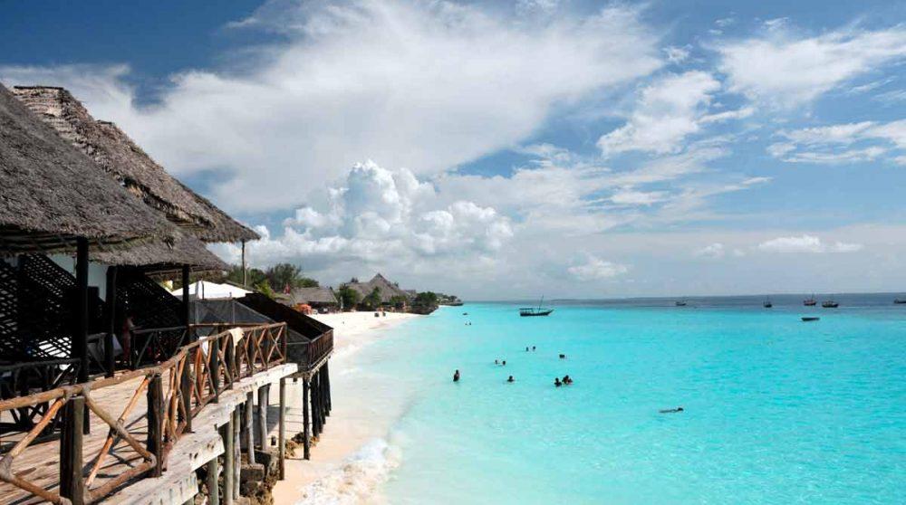 La plage de Zanzibar